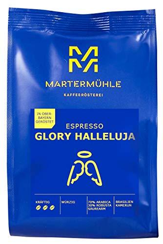 Martermühle I Espresso Glory Halleluja I ganze Bohnen I Espresso aus Brasilien & Kamerun I Premium Espressobohnen I geröstete Espressobohnen I säurearm I 70% Arabica & 30% Robusta I 1kg
