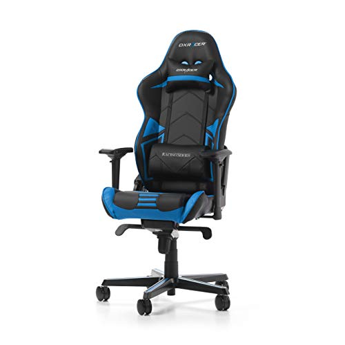 DXRacer Racing Pro Series R131-NB Gaming Stuhl aus Kunstleder, Schwarz-Blau