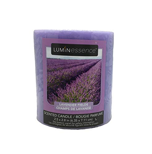 Luminessence Lavender Fields Scented Pillar Candle
