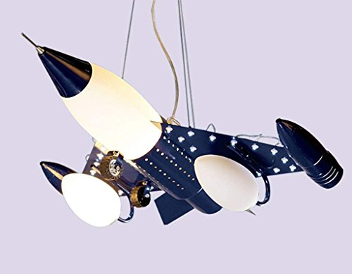 Decoratie kroonluchter, restaurant café bar decoratie kroonluchter, smeedijzeren wandlamp kinderkamer vliegtuig hanger lampboy slaapkamer woonkamer eenvoudige lampen ogen creatief cartoon LED L