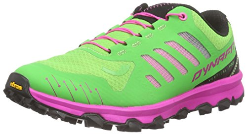Dynafit Ms Feline Vertical Pro, Zapatillas de Running para Asfalto Hombre, Multicolor (Magenta/Green), 40.5 EU