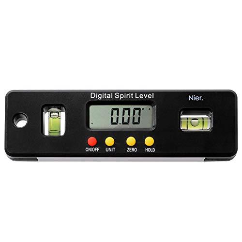 【Nier.】 デジタル水平器 水準器 デジタル角度計 傾斜計 水平器