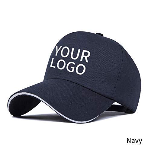 SYQY Gorra de Beisbol Gorra de béisbol Personalizada Logotipo Texto Impresión fotográfica Hombres Adultos Mujeres Sombrero de papá
