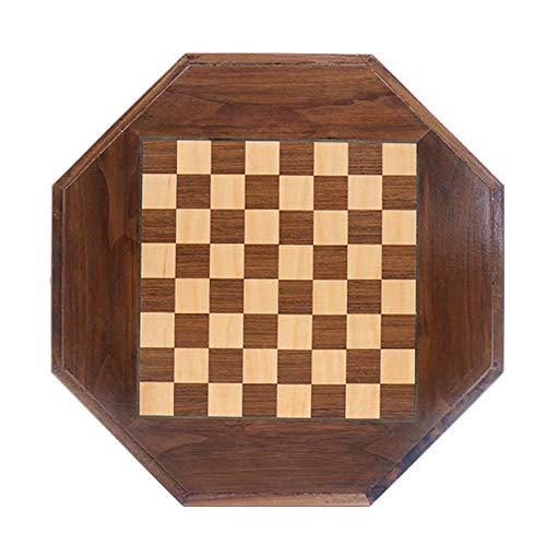 Magnetiserat schackset i trä, schackspel med kung – förvaringsväska – presentförpackad låda, turneringsschackspel tassar för utbyte av saknade delar