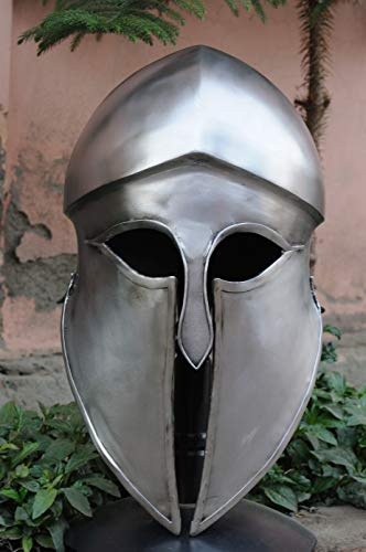 AER Korinthischer Helm (Material: verzinnter Stahl) - Gladiatorenhelm » Reenactment, LARP, Schaukampf