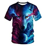 Sommer Digitaldruck Schneewolf 3Dt Shirt Jugend Casual T-Shirt Top