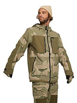 Burton Mens Frostner Jacket Barren Camo/Keef Medium