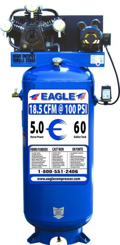 Eagle C5160V1 60-Gallon 150 PSI max Electric Compressor