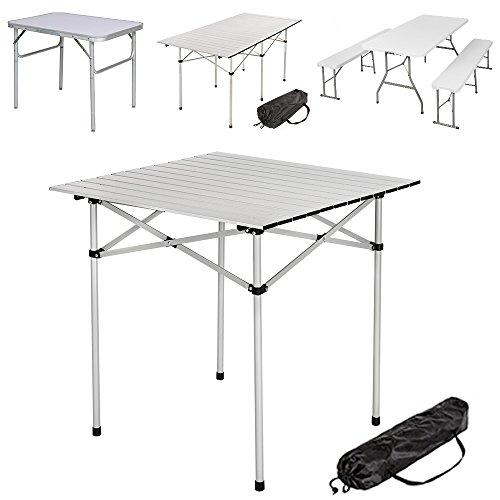 TecTake | Mesa plegable de aluminio portátil - Varios modelos disponibles