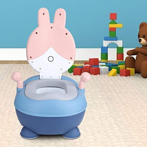 FOLOSAFENAR Asiento de Entrenamiento para Orinal de bebé Azul Rosa, Silla portátil, Mano de Obra estándar, Dibujos Animados, baño para niños, diseño Separado para el hogar