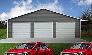 Weizhengheng CG06 Light Steel Metal Car Garage with Electric Rolling Door Size:L×W×H: 30'×20'×10'