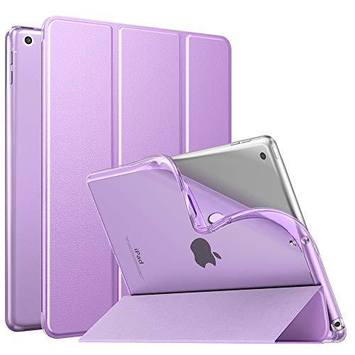 MoKo Dünne TPU Hülle für Neu iPad 10.2 2019, Smart Hülle Schutzhülle mit weicher Transluzent Rückseite Backcover Auto Schlaf/Wach Funktion für iPad 7. Gen 10.2