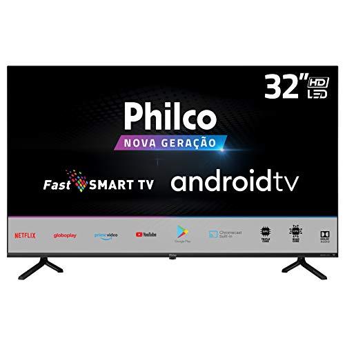"TV LED 32"" PHILCO PTV32E20AGBL, Android, 2 HDMI, 2 USB, Wi-Fi, Wireless, Comando de voz"