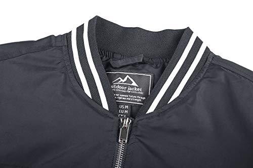 KEFITEVD - Bomber deportiva ligera para hombre, diseño inspirado en el béisbol, ideal para primavera o verano, con bolsillos