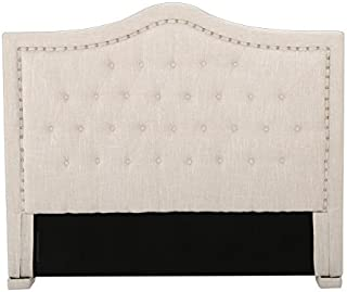 Christopher Knight Home 296438 Ronan California King Upholstered Tufted Fabric Headboard, Beige