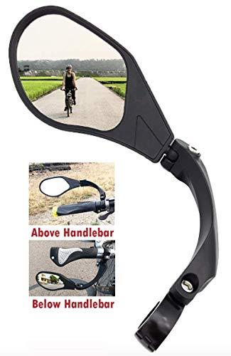 Hafny New Handlebar Bike Mirror HDBlastResistant Glass Lens HFMR088LS Left