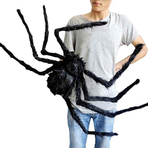 ILOVE DIY Halloween Spinne Deko Partydeko 30cm 75cm 125cm (125cm, Schwarz - Neu)