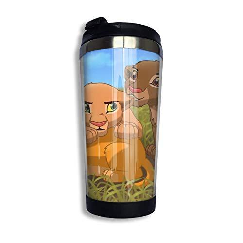 Dibujos Animados Simba Lion King Taza de Agua Forro Aislado Taza de café de Acero Inoxidable Taza de Viaje Deportiva Base giratoria Cubierta de Hebilla MUG-1907