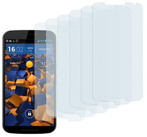 mumbi Schutzfolie kompatibel mit Motorola Google Nexus 6 Folie klar, Bildschirmschutzfolie (6x)