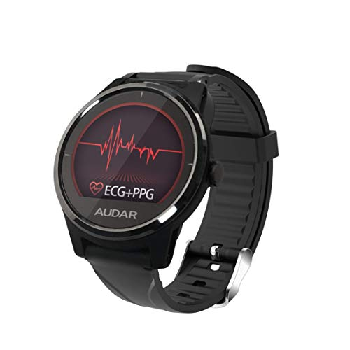 Audar E1 Fitness Smartwatch mit EKG PPG Blutdruckmessung Pulsmesser Kalorien- & Schrittzähler Distanzmessung Schlafmonitor Benachrichtigungsfunktion Sportmodus, IP67 für Frauen Männer