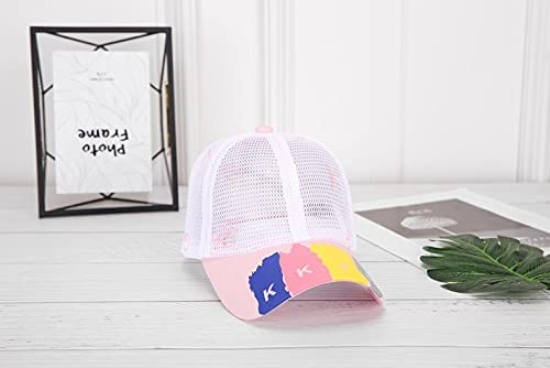 WGMYDY Full Mesh Children's Baseball Caps Breathable Thin Summer Hip-hop Sunscreen Children Hats Boys and Girls Hats (Color : B, Size : A)