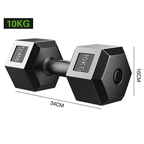 DUOER Hanteln Hanteltraining Hantelns Hex Hantel Herren Barbell Fitness Hausgeräte weiblich Zwei Dumbbells for Ihr Krafttraining 5/10/15 / 20kg Armtraining Hanteln Dumbbell Fitness Krafttraining