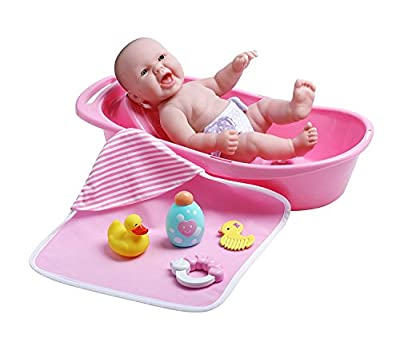 "La Newborn Realistic Baby Doll featuring 13"" All Vinyl Newborn Doll"