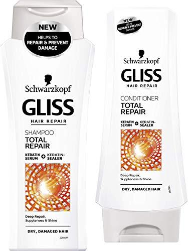 Schwarzkopf Gliss Total Repair Shampoo and Conditioner Set by Schwarzkopf