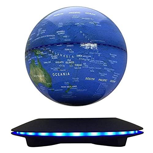 AIHOME Globos magnéticos, globos de levitación magnética, transmisión inalámbrica LED, control táctil, 6 pulgadas, mapa del mundo de bola flotante azul, 2021 NUEVO hacer levitar más fácil
