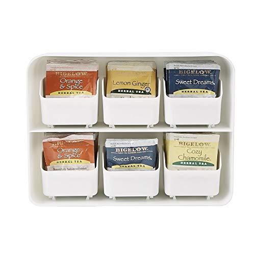 Mind Reader 'Clutch' Titolare Bustina di Tè e Condimento Organizzatore per 90 Bustine di Tè