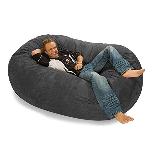 Relax Sack 6 ft. Microsuede Foam Bean Bag Lounger