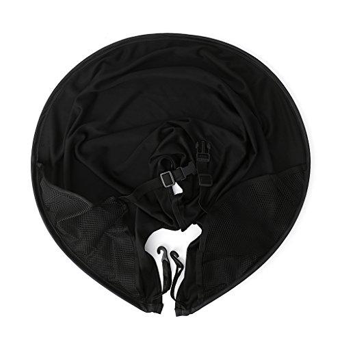 Yanhonin Pare-soleils Ombrelles Universel pour Poussette/Landaus, Protection Soleil Poussette Moustiquaire Poussette Canopy Antipoussière, Couvertures Anti-UV Ombrelle Poussette