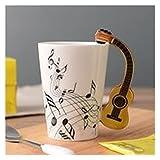 JSJJRFV Taza de Agua Música Creativa Estilo de violín Taza de cerámica de la Guitarra Taza de té de café Taza de té con...
