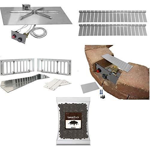New Firegear FPB-30SFMSIN-PK Square Flat Pan Paver Kit Package TMSI