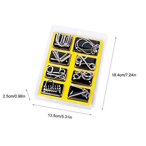 Achtdelige set van intellectuele uitdaging metalen puzzels negen-ring serie