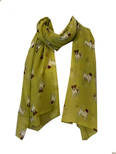 Pamper Yourself Now Senf Jack Russel Hund Schal/wrap -Mustard Jack Russel Dog Scarf/wrap