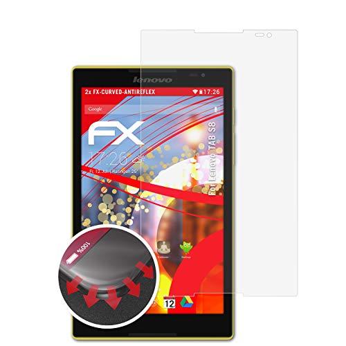atFolix Schutzfolie kompatibel mit Lenovo TAB S8 Folie, entspiegelnde & Flexible FX Bildschirmschutzfolie (2X)