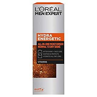 L'Oréal Paris Men Expert Hydra Energetic All-in-One Moisturiser For Men, Aftershave and Face Cream, for Dry and Tired Skin, with Guarana and Vitamin C, 75ml (B076V2DDDZ) | Amazon price tracker / tracking, Amazon price history charts, Amazon price watches, Amazon price drop alerts