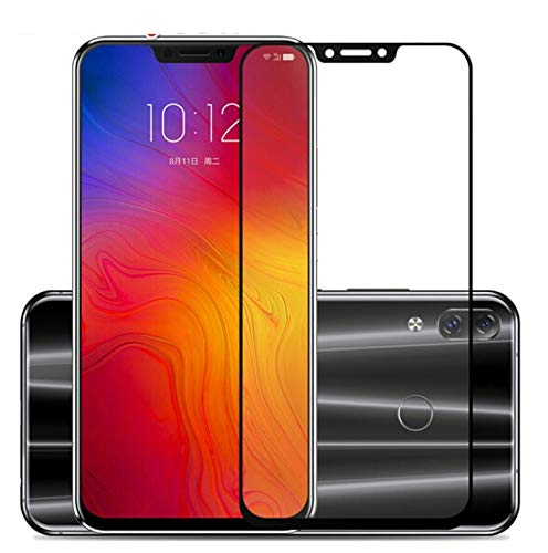 JVSJ 2PCS For Lenovo Z5S Z5 S5 K8 Note K6 Note Zuk Z2 Pro Full Cover Protective Film Explosionproof Screen Protector Tempered Glass,For Lenovo K8 Note,Black