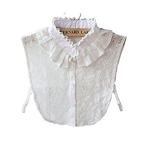ラッフル・カラー レース襟 つけ 襟 インナー シャツ ワンピ カットソー ブラウス インナー 襟 重ね着 P-063