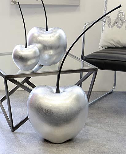 Casablanca 36764 Dekofigur - Skulptur - Kirsche Celebration- Keramik - Farbe: Silber Höhe 42 cm