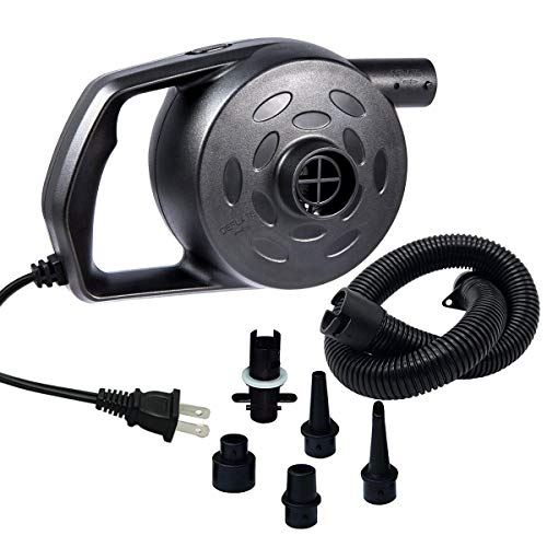 chamvis Electric Air Pump for Inflatables High Power Quick-Fill Air Mattress Pump Inflator Deflator...
