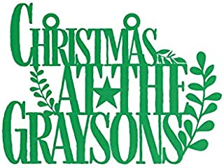 Personalized Christmas at The …, Custom Signs with Your Names, Personalized As Door Signs, Welcome Sign, or Home Decor, Put Them On Wreaths, Design Your Own