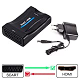 SCART auf HDMI Konverter, Ticent & Co Scart zu HDMI Konverter Adapter 1080P HD Video Wandler für HDTV STB Xbox PS3 Sky DVD Blu-ray