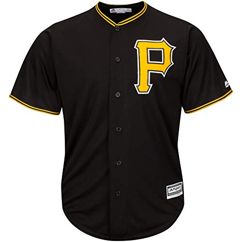 Outerstuff MLB 8-20 Youth Blank Cool Base Alternate Color Team Jersey (Large 14/16, Pittsburgh Pirates Alternate Black)