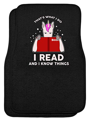 SPIRITSHIRTSHOP That's What I Do. I Read And I Know Things. Books - Het is wat ik tue. Ik lees boeken. - Automatten