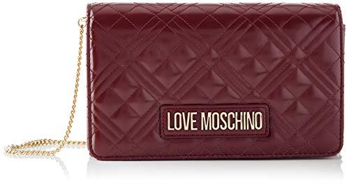 Love Moschino JC4261PP0BKA0, Borsa A Spalla Donna, Vino, Normale