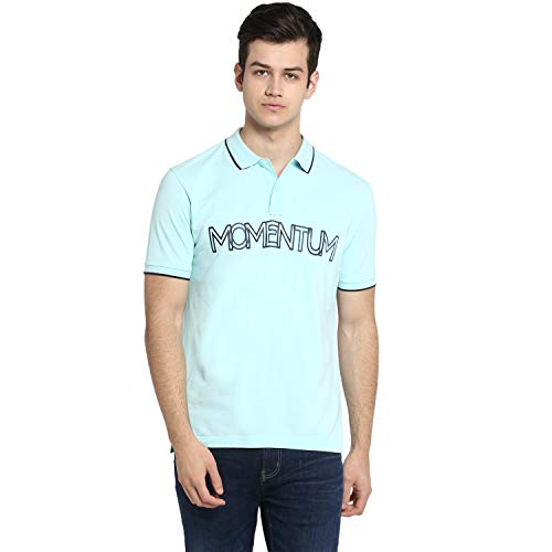Red Tape Men's Printed Regular fit Polo (RHP0364_Arctic Blue L)