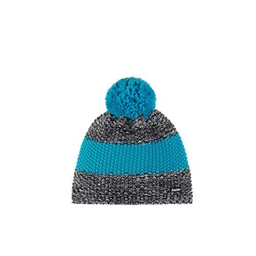 Eisbär Men's Styler Pompom Hat, Black/White Mele/Mugoazu, One Size