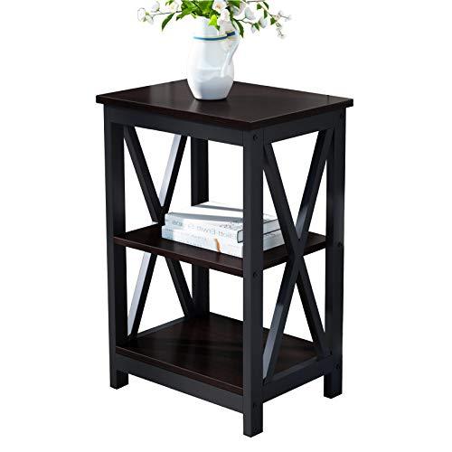 SogesPower Tavolo consolle per corridoio, con mensola, per soggiorno, camera da letto, scrivania, in legno, per soggiorno, camera da letto, corridoio,DX-240A